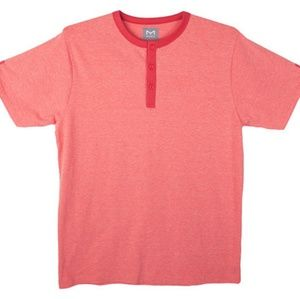 Salmon La Mode Men's Soft Henley T-Shirt